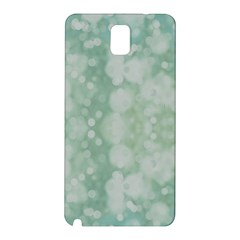 Light Circles, Mint green color Samsung Galaxy Note 3 N9005 Hardshell Back Case