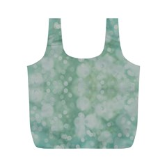 Light Circles, Mint green color Full Print Recycle Bags (M)
