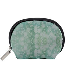 Light Circles, Mint green color Accessory Pouches (Small)
