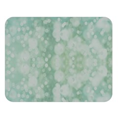 Light Circles, Mint green color Double Sided Flano Blanket (Large)