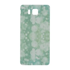 Light Circles, Mint green color Samsung Galaxy Alpha Hardshell Back Case
