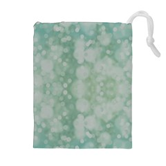 Light Circles, Mint green color Drawstring Pouches (Extra Large)