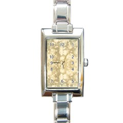 Light Circles, Brown Yellow color Rectangle Italian Charm Watch