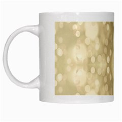 Light Circles, Brown Yellow color White Mugs