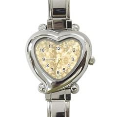 Light Circles, Brown Yellow color Heart Italian Charm Watch