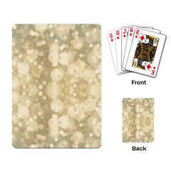Light Circles, Brown Yellow color Playing Card