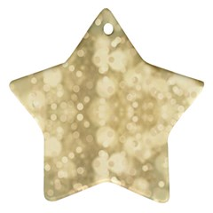 Light Circles, Brown Yellow color Star Ornament (Two Sides)