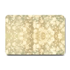 Light Circles, Brown Yellow color Small Doormat