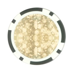 Light Circles, Brown Yellow color Poker Chip Card Guards