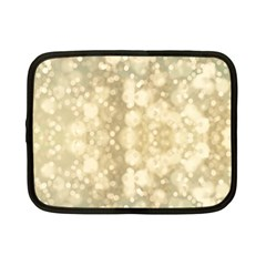 Light Circles, Brown Yellow color Netbook Case (Small)