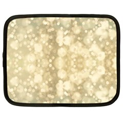 Light Circles, Brown Yellow color Netbook Case (Large)