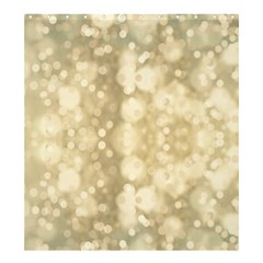 Light Circles, Brown Yellow color Shower Curtain 66  x 72  (Large)
