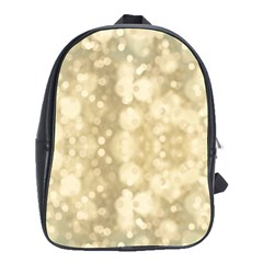 Light Circles, Brown Yellow color School Bags(Large)