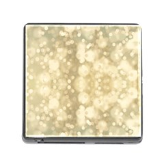 Light Circles, Brown Yellow color Memory Card Reader (Square)