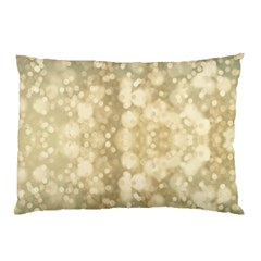 Light Circles, Brown Yellow color Pillow Case (Two Sides)