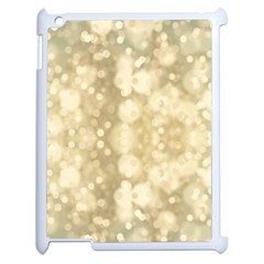 Light Circles, Brown Yellow color Apple iPad 2 Case (White)