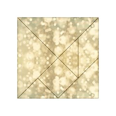 Light Circles, Brown Yellow color Acrylic Tangram Puzzle (4  x 4 )