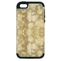Light Circles, Brown Yellow color Apple iPhone 5 Hardshell Case (PC+Silicone)