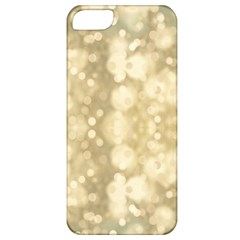 Light Circles, Brown Yellow color Apple iPhone 5 Classic Hardshell Case