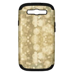 Light Circles, Brown Yellow color Samsung Galaxy S III Hardshell Case (PC+Silicone)
