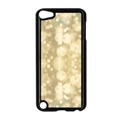 Light Circles, Brown Yellow color Apple iPod Touch 5 Case (Black)