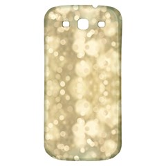 Light Circles, Brown Yellow color Samsung Galaxy S3 S III Classic Hardshell Back Case