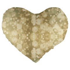 Light Circles, Brown Yellow color Large 19  Premium Heart Shape Cushions