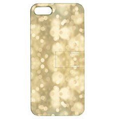 Light Circles, Brown Yellow color Apple iPhone 5 Hardshell Case with Stand
