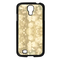 Light Circles, Brown Yellow color Samsung Galaxy S4 I9500/ I9505 Case (Black)