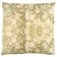 Light Circles, Brown Yellow color Standard Flano Cushion Case (Two Sides)