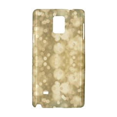 Light Circles, Brown Yellow Color Samsung Galaxy Note 4 Hardshell Case