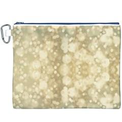 Light Circles, Brown Yellow color Canvas Cosmetic Bag (XXXL)