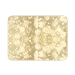 Light Circles, Brown Yellow color Double Sided Flano Blanket (Mini)