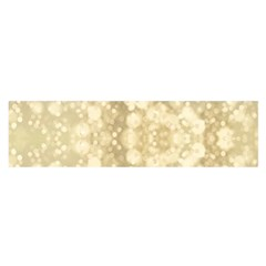 Light Circles, Brown Yellow color Satin Scarf (Oblong)
