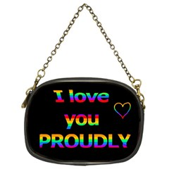 I love you proudly Chain Purses (One Side)