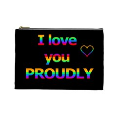 I love you proudly Cosmetic Bag (Large)