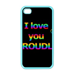 I love you proudly Apple iPhone 4 Case (Color)
