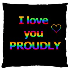 I love you proudly Large Cushion Case (Two Sides)