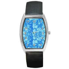Light Circles, dark and light blue color Barrel Style Metal Watch
