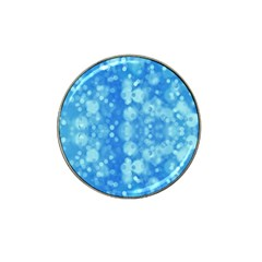 Light Circles, dark and light blue color Hat Clip Ball Marker