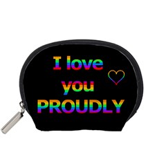 I love you proudly Accessory Pouches (Small)