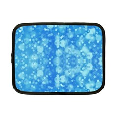 Light Circles, dark and light blue color Netbook Case (Small)