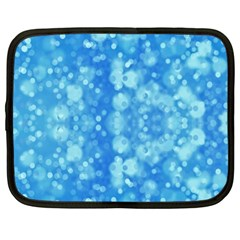 Light Circles, dark and light blue color Netbook Case (Large)