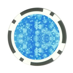 Light Circles, dark and light blue color Poker Chip Card Guards (10 pack)