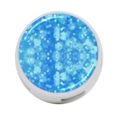 Light Circles, dark and light blue color 4-Port USB Hub (Two Sides)