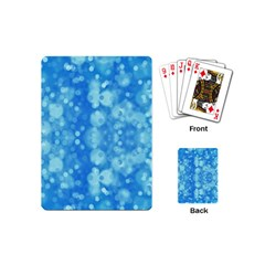 Light Circles, dark and light blue color Playing Cards (Mini)