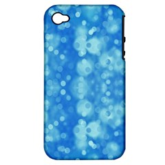 Light Circles, dark and light blue color Apple iPhone 4/4S Hardshell Case (PC+Silicone)