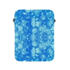 Light Circles, dark and light blue color Apple iPad 2/3/4 Protective Soft Cases