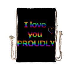 I love you proudly Drawstring Bag (Small)
