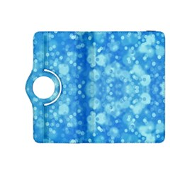Light Circles, dark and light blue color Kindle Fire HDX 8.9  Flip 360 Case